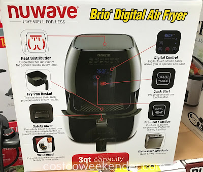 Costco 1115981 - Nuwave Brio Digital Air Fryer: cook healthier meals in minutes