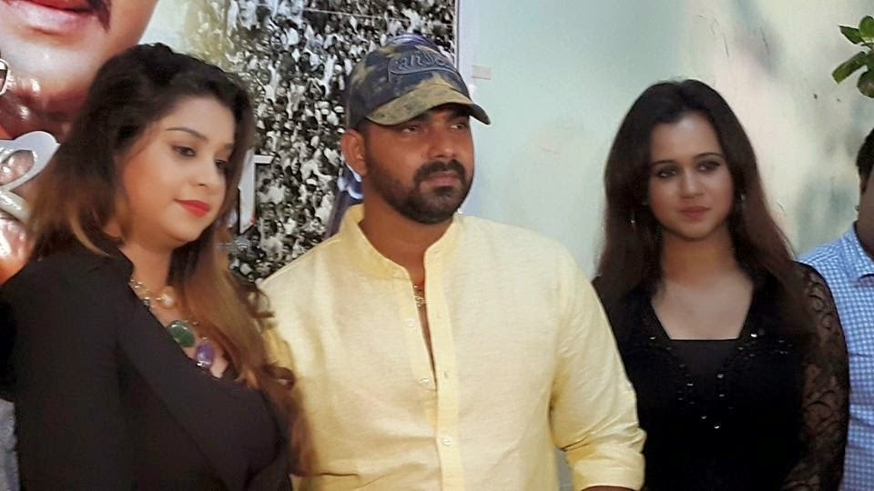 Pawan Singh, Gunjan panth, Anara gupta at Sarkar Raj Bhojpuri Movie Launch: Picture