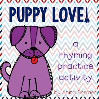 Rhyming words matching activity- a Kindergarten literacy center