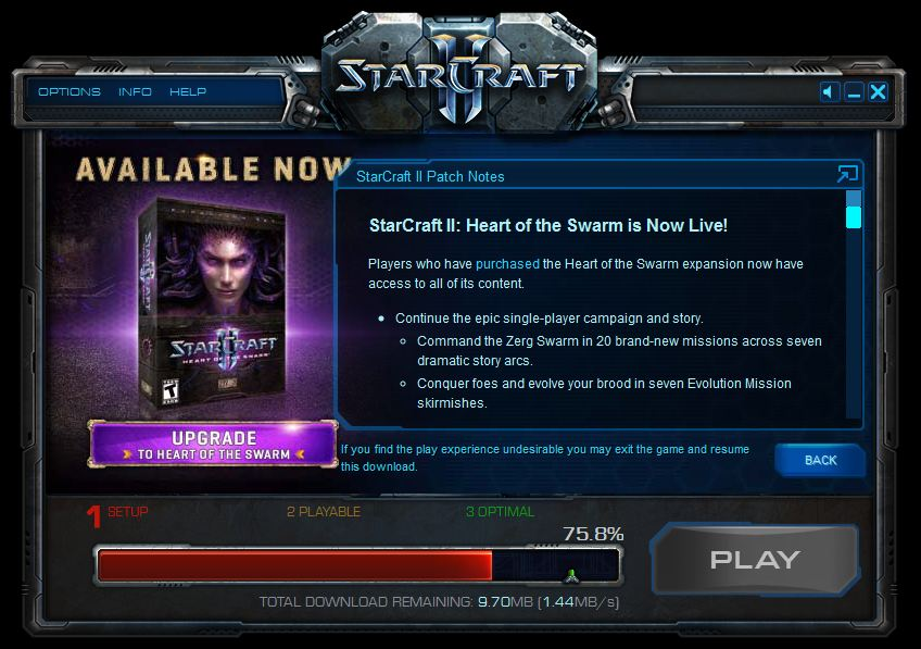 Heart of the swarm ui update starcraft ii.
