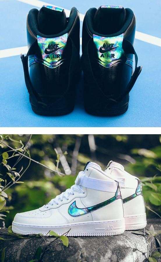 THE SNEAKER ADDICT: Nike Air Force 1 High 'Oil Slick' Pack