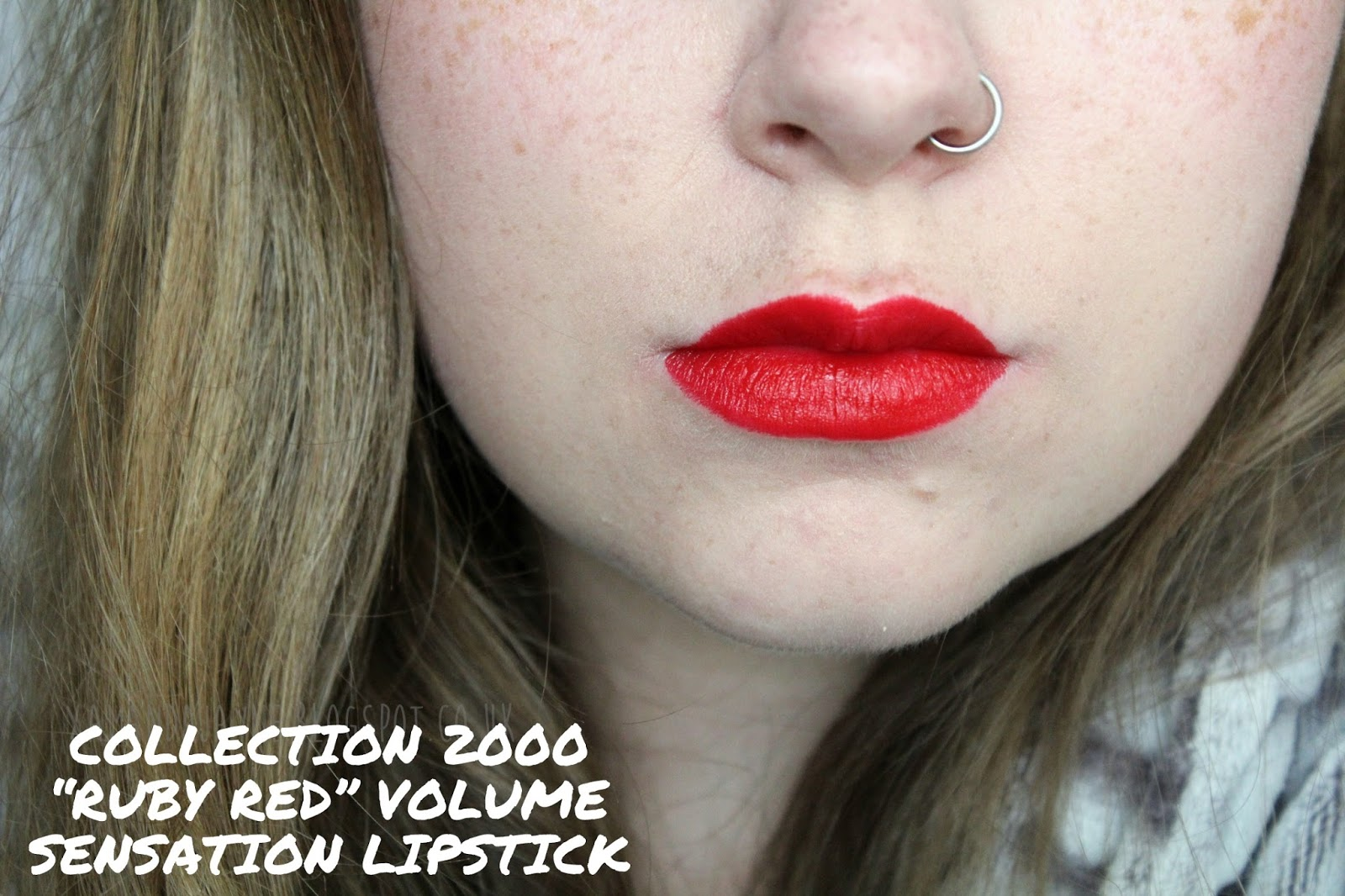 collection 2000 ruby red volume sensation lipstick swatch