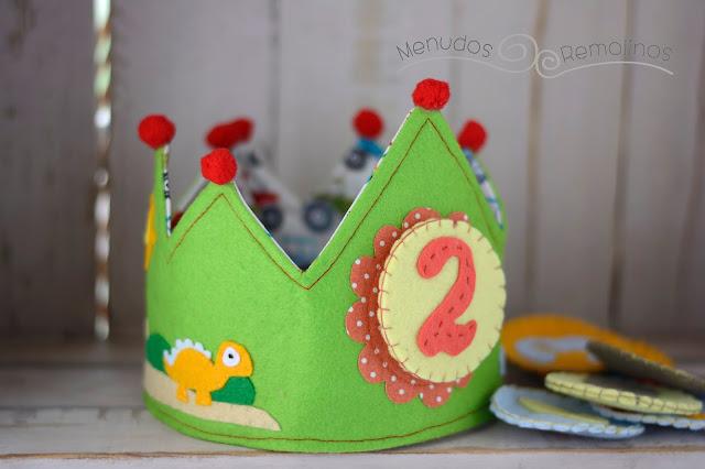 Corona de cumpleaños Dinosaurios