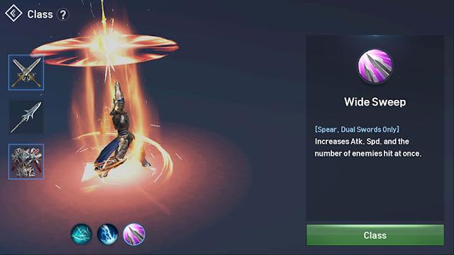Skill Aktif Warlord : Wide Sweep
