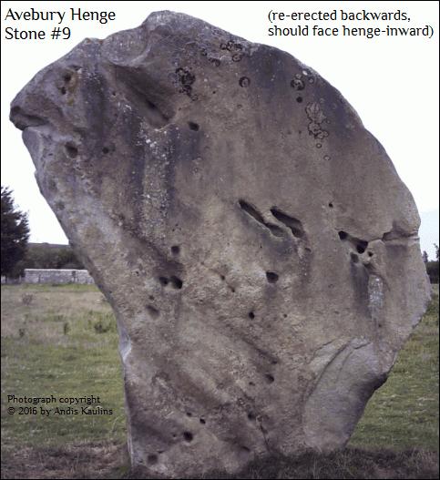 Avebury Stone #9 Deciphered : Ursa Major Face Photo