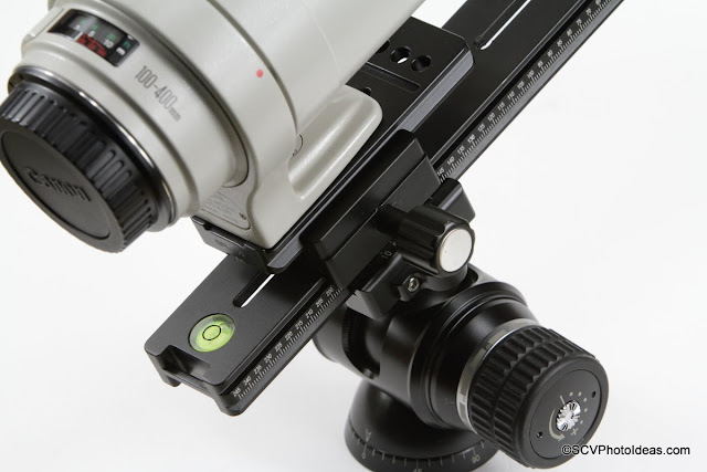 Desmond DDC-50 Dual Subtend Clamp between lens plate and rail