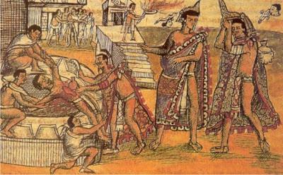 Hasil gambar untuk Tumbal suku aztec