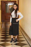Manjusha in sleevelss crop top and black skirt at Darshakudu pre release ~  Exclusive Celebrities Galleries 108.JPG