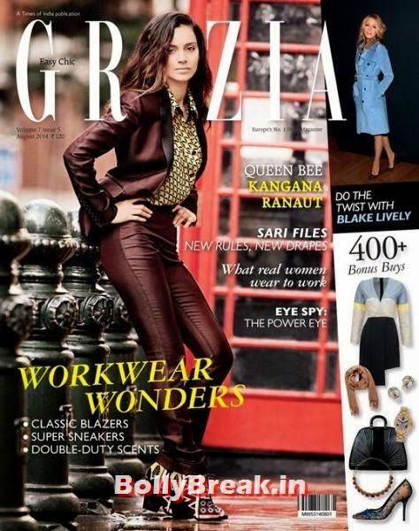 Kangna Ranaut, August 2014 Indian Magazine Covers