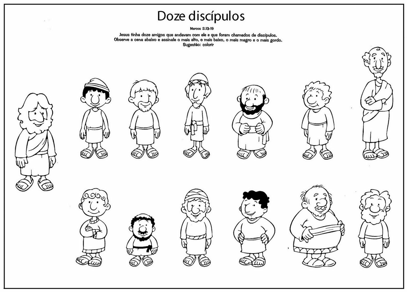 El Renuevo De Jehova: Los Doce Discipulos - Imagenes para colorear ...