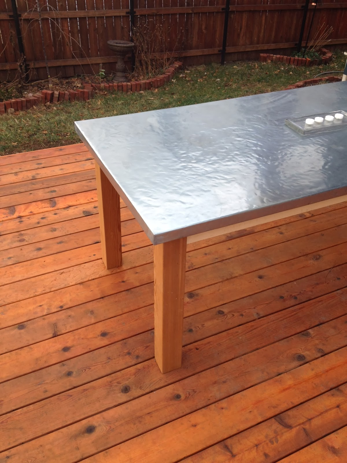 Before And After Kansas City How To Make A Diy Outdoor Zinc Table