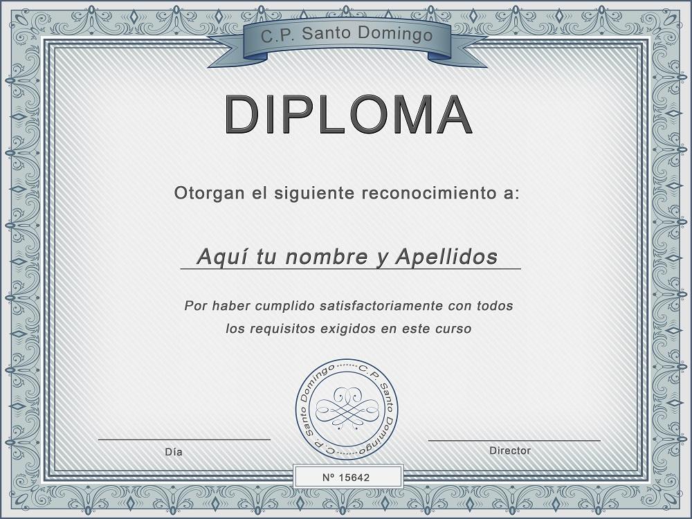 Plantilla psd para crear Diploma No12
