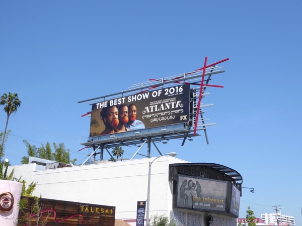 Atlanta Best show of 2016 Emmy billboard