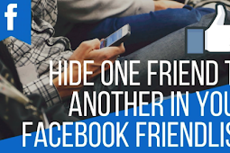 How to Hide A Friend On Facebook 2019