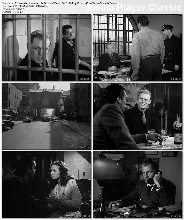 El beso de la muerte (1947)   Kiss of death 1947   Secuencias de la película