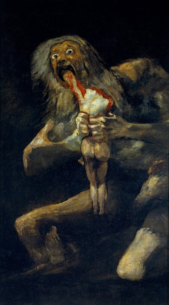 Francisco Goya - Saturn æder sit barn - Saturn Devouring His Son - 1819-1823