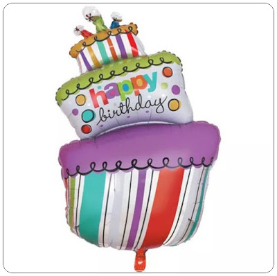 Balon Foil Happy Birthday Cake Miring Jumbo