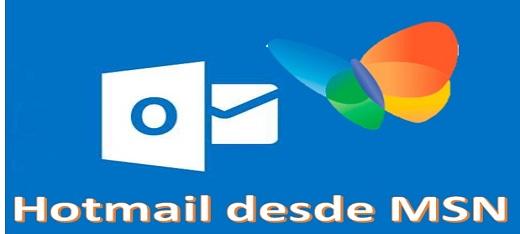 Inicia sesión en Hotmail desde MSN