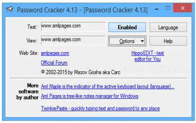 Password Cracker - Restauration Mots de Passe sur Windows