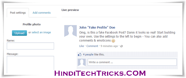 Create-Facebook-Fake-Chat-Status-Hindi