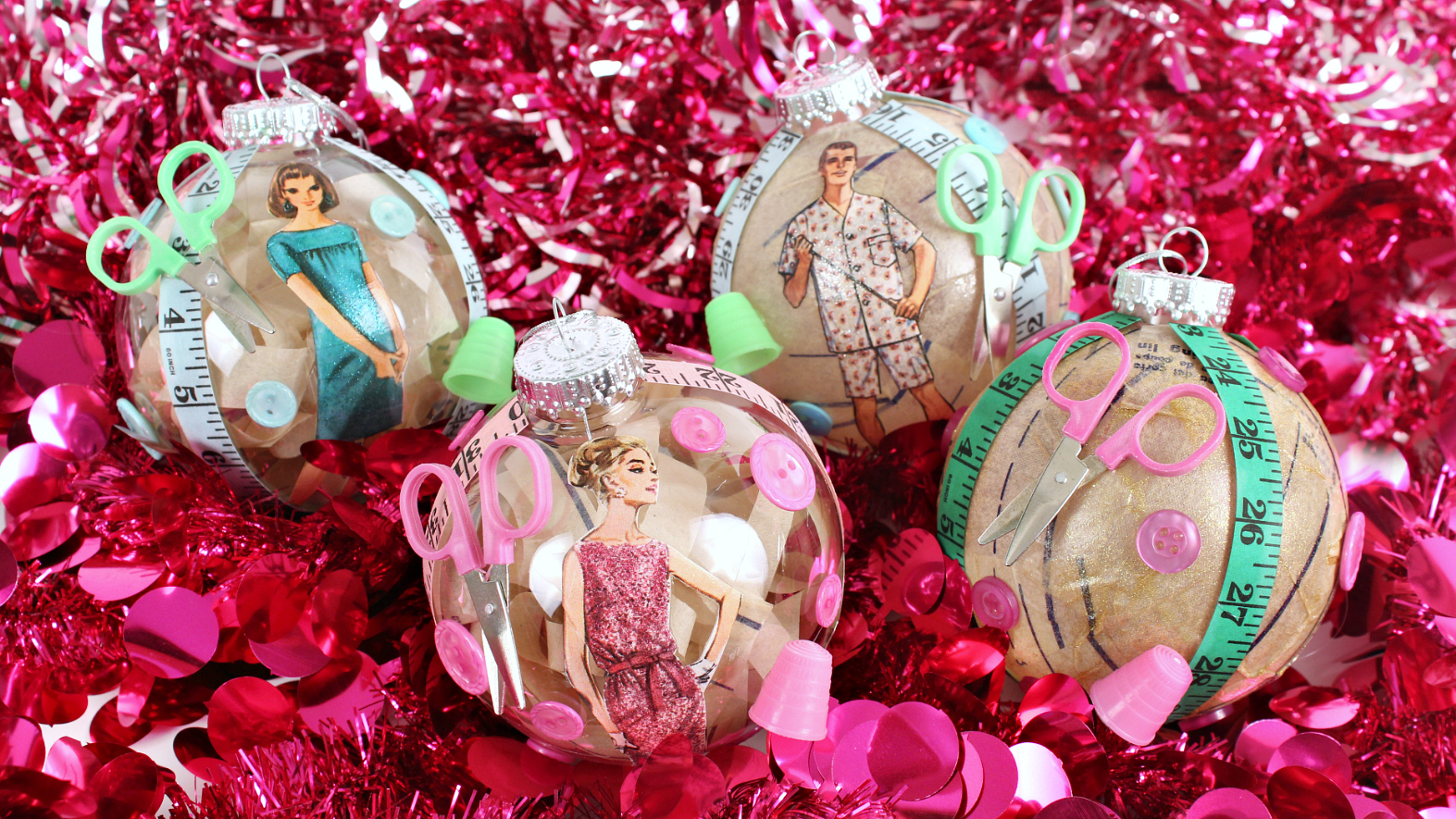 Mark Montano: Vintage Sewing Christmas Ornaments!