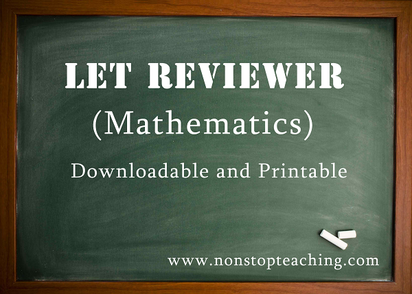 LET Reviewer Mathematics Major with Answer Keys