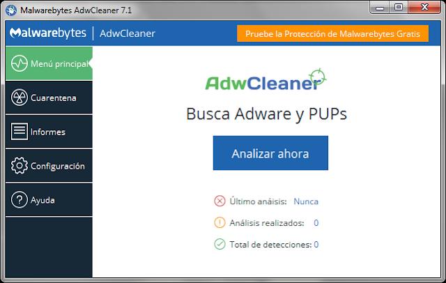 Malwarebytes AdwCleaner v8.0.6 - Eficaz herramienta para eliminar adware, toolbars e hijackers de tu PC