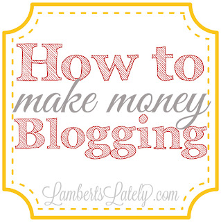 How to Make Money Blogging...tips and tricks on how to monetize your blog! https://www.lambertslately.com/2013/08/how-i-make-money-blogging.html