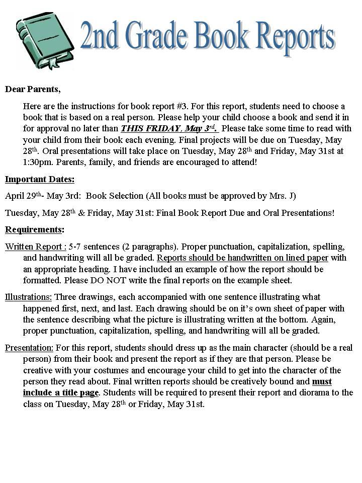 2nd Grade Superstars! Book Report #3