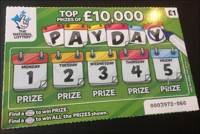 National Lottery £1 Payday Scratch Card