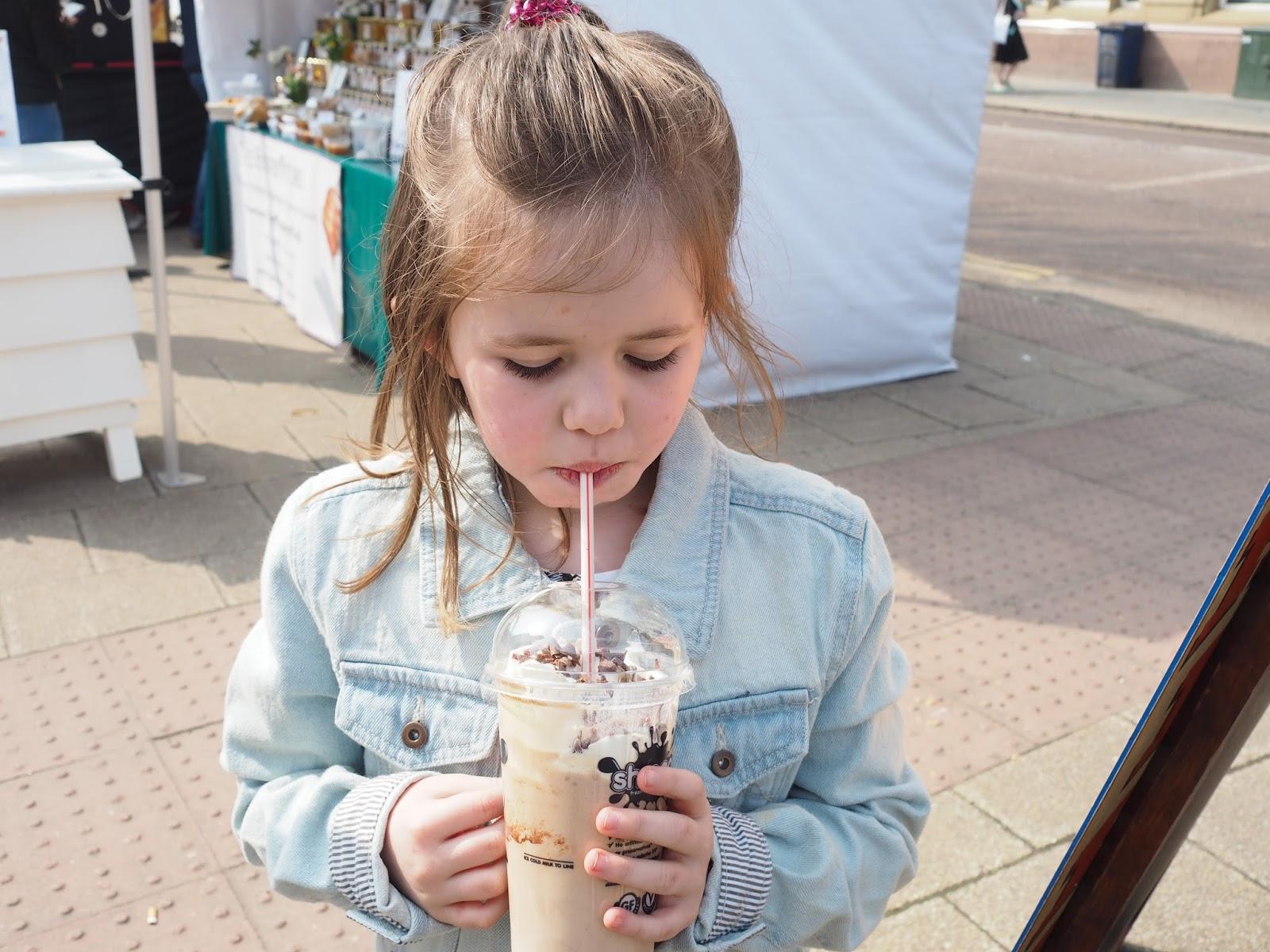 waffle co milkshake newcastle quayside street food market