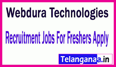 Webdura Technologies Recruitment Jobs For Freshers Apply