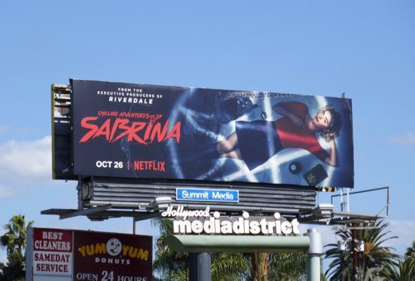 Sabrina Netflix billboard