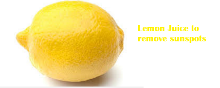 Lemon Juice to remove sunspots