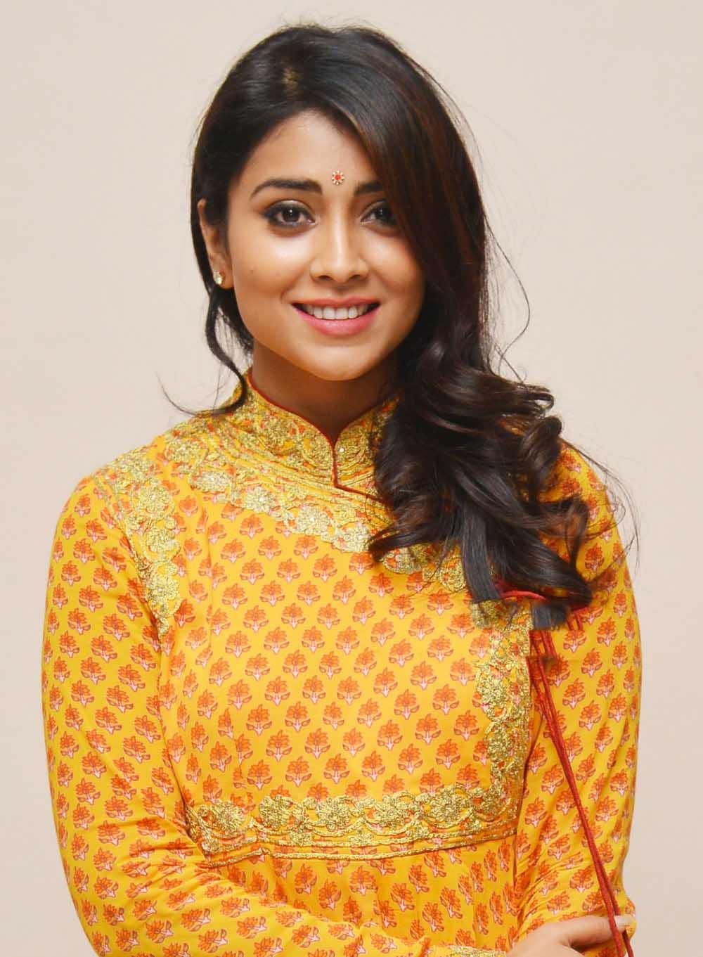 Actress Shriya Saran Photos In Yellow Dress