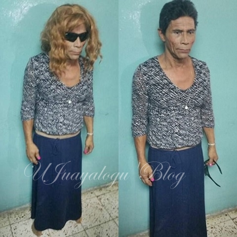 So Hilarious: See How a Notorious Gang Leader, Don Chico, Disguised as Woman to Break Out of Jail (Photos)