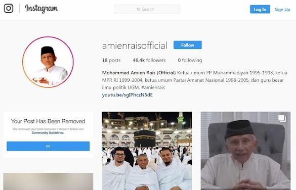 Instagram Hapus 3 Postingan Amien Rais, Mustofa Nahra: Mereka Panik dan Takut