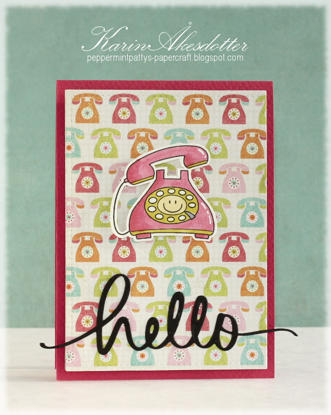 Peppermint Patty S Papercraft Hello Runway Inspired Card