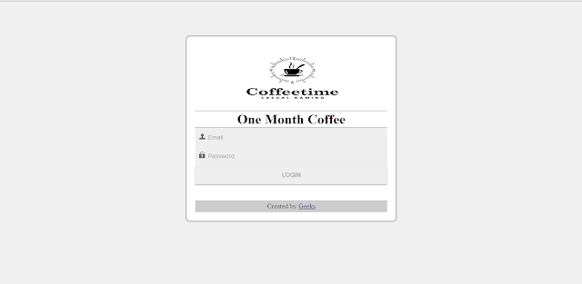 LOGIN - One Month Coffee