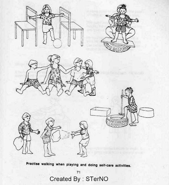 alat bantu dari kursi dan ban untuk melatih cp