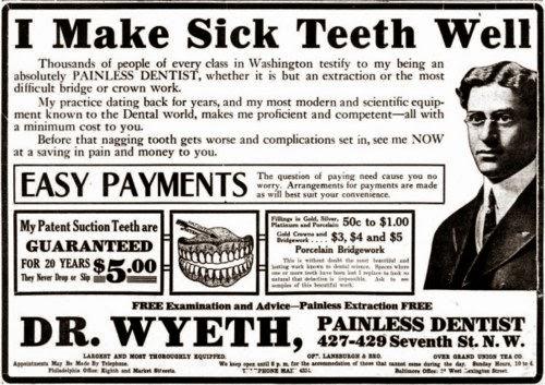 Old Timey Dentistry Go Retro