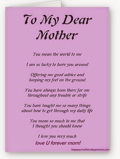 Poems To Show Love For Mom 48