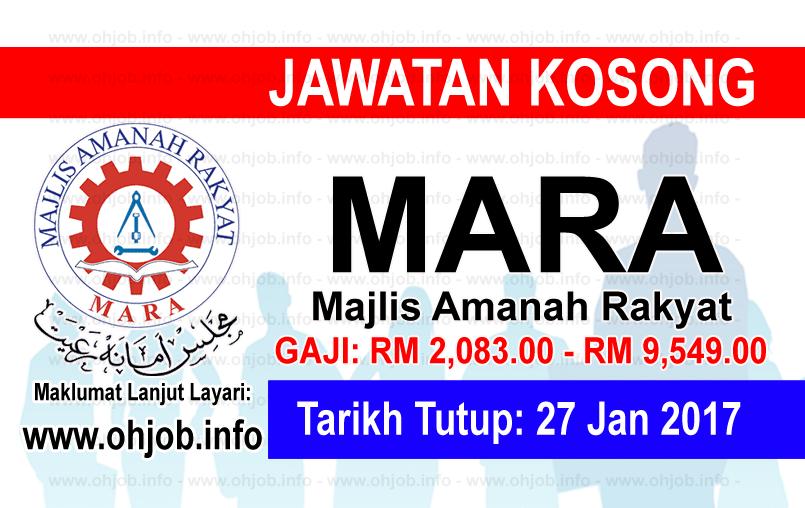 Jawatan Kerja Kosong Majlis Amanah Rakyat (MARA) logo www.ohjob.info januari 2017