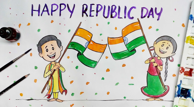 Republic day drawing images