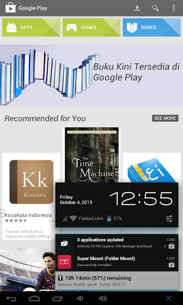 Google Play Store 4.3.11 Home