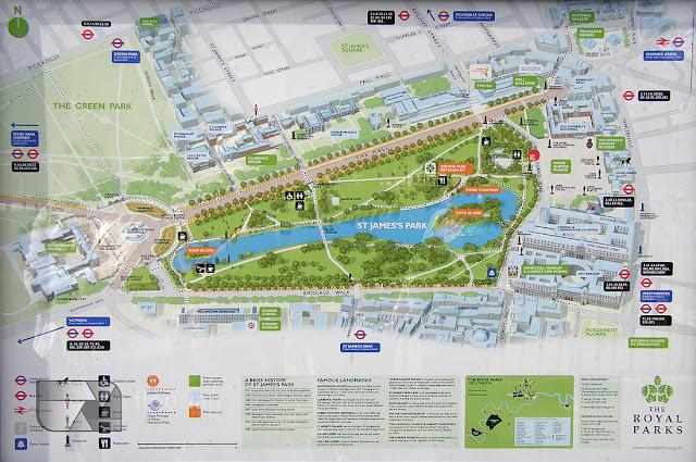 Mapa centrum Londynu