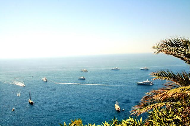 mare, acqua, barche, cielo, palme, isola, Capri