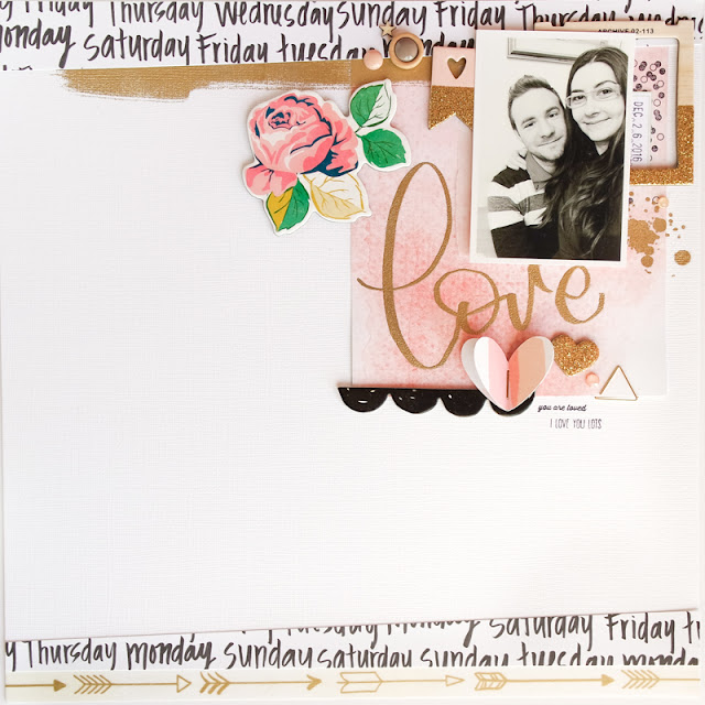 scrapbook layout love by kushi | www.kkushi.com