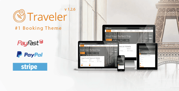 Free Download Traveler  Premium Responsive Travel Tour Booking WordPress Theme