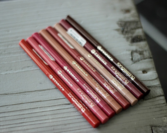 essence longlasting lipliners review swatches